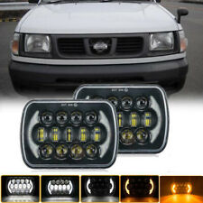 """Pair 7x6"""" LED Sealed Beam Replacement H6054 H6014 For Nissan Pickup Hardbody D21"""