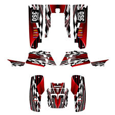 Banshee 350 graphics Yamaha full coverage decal sticker kit #2500-Red