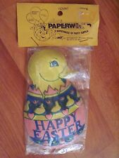 "Plastic Duck in Happy Easter Egg 5"" High  Vintage One Cake Topper NOS"