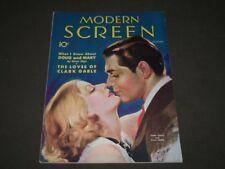 1931 DEC MODERN SCREEN MOVIE MAGAZINE - CLARK GABLE & GRETA GARBO COVER - M 50
