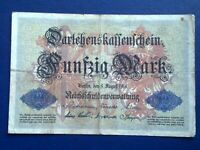 GERMANY - 50 MARK 1914 -   FINE/4/