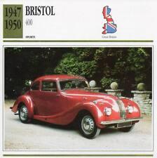 1947-1950 BRISTOL 400 Sports Classic Car Photo/Info Maxi Card