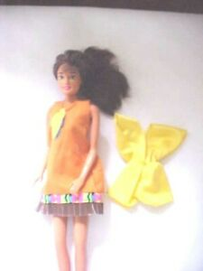 Doll Teresa Friend of Barbie 2 Outfits Twist Turn Brown Hair and Green Eyes Used