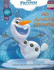 Disney Frozen An Amazing Snowman includes poster 25 stickers song download NEW