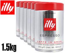 6 X Illy Coffee Whole Beans Medium Roast 250g