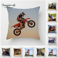 Motorcycle Sports Throw Pillow Cover Extreme Speed Cushion Cover