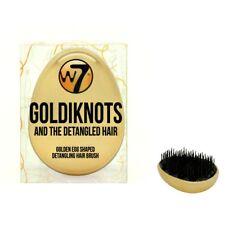 W7 Cepillo de pelo en forma de huevo de oro goldiknots Detangler Desenredador Cepillo