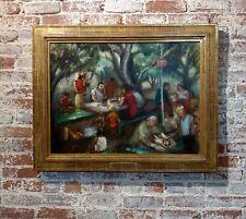 Frances Beatrice Lieberman -Picnic at Alum Rock-Important 1935 Oil Painting