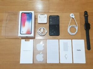 🔹APPLE🔹iPhone X (10) 256GB Space Gray with Apple Watch 1st Gen🔹SPECIAL DEL.🔹