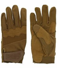 """Voodoo Tactical The """"Edge"""" Shooter's Gloves. Coyote. 2XL. Riot Gear."""