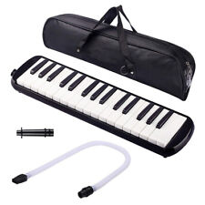 More details for melodica 32 piano keys pianica musical instrument with black carrying bag