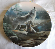 Howling Lesson Plate Coa Call Of The Wilderness Devoted To The Gray Wolf