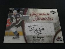 NHL UPPER DECK SIGNATURE SWATCHES GAME USED JERSEY CARD -ALEX TANGUAY COLORADO