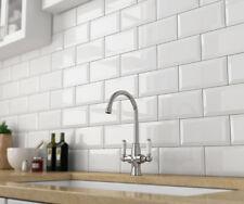 White Gloss Bevelled 100x200 Ceramic Tile Bathroom Kitchen Laundry Wall