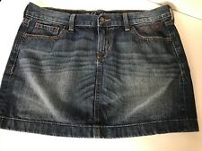 Jean Denim Mini Skirt Size 10 Old Navy Faded Medium Wash Straight