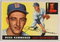1955 Topps #18 Russ Kemmerer ROOKIE RC VG-VGEX Boston Red Sox FREE SHIPPING