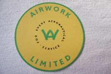 More details for 1952-1960 airwork limited for every aeronautical service airline luggage label