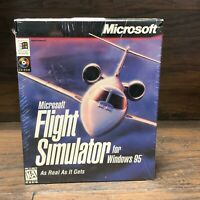 Vintage Microsoft Flight Simulator Windows 95 Version 6.0 1996 PC CD-ROM Game