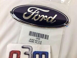 Ford Focus C-Max Transit Connect Front Grille Blue Oval FORD Emblem new OEM