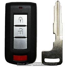Used OEM Factory Mitsubishi Outlander Remote Smart Prox Key Keyless Uncut Blade