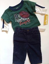 "NEW! ""Football League"" Baby Boys 2 Pc Outfit Set 6 Months Shirt Pants OshKosh"