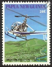 HILLER 12E Helicopter Aircraft Stamp (SIL Summer Institute of Linguistics)