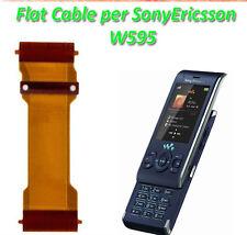 FLAT FLEX ORIGINALE per SONY ERICSSON W595 W595i per DISPLAY LCD BIANCO TASTI KO