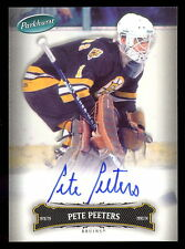 06 07 PARKHURST HOCKEY #96 PETE PEETERS AUTO AUTOGRAPH SIGNED BOSTON BRUINS