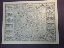 WALES 1610 MAP by John Speed   - Uncoloured