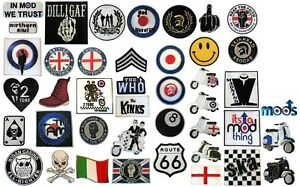 2 Tone Ska mods 40th Anniversary sew on printed badge 10cm dia scooter patch