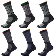 6 Pairs Mens Kato Work Boot Socks Hard Wearing Warm Cushioned Support UK - 6-11