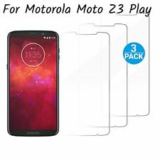 For Motorola Moto Z3 Play Screen Protectors 3 Pack Tempered Glass 9H Hardness
