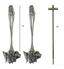 """(2) Doz 18"""" Duckbill Trapping Anchor Cable Stakes with 24"""" Magnum T-Driver Combo"""