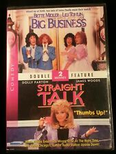 Big Business / Straight Talk (DVD) Bette Midler, Lily Tomlin, Dolly Parton, NEW!