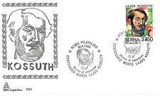 ITALIA REP. - 1994 - Centenario della morte di Lajos Kossuth su FDC Capitolium