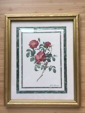 Pierre Joseph Redoute 1759-1840 home interior rose picture rose bible signed