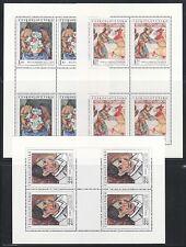 Czechoslovakia Sc 1847-51 NH Minisheet of 1972 - Art