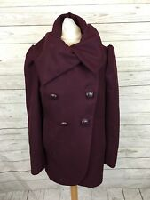 Women's French Connection Coat - UK8 - Purple - Wool & Cashmere -Great Condition