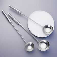 KE_ Stainless Steel Long Handle Soup Dishes Ladle Spoon Cooking Utensils Novel