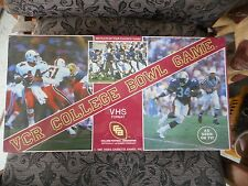 VINTAGE VCR COLLEGE BOWL GAME VHS FORMAT 1987 AS SEEN ON TV