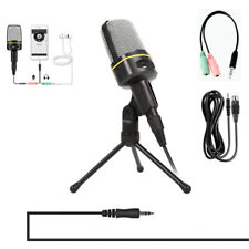 Condenser Microphone 3.5mm Plug  Stereo MIC Desktop Tripod for PC YouTube Video