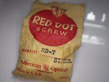 TRUE VINTAGE AO American Optical Sun Eyeglass RED DOT 7 barrel Set of 2 SCREWS