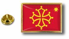 pins pin badge pin's metal  pince papillon drapeau occitan occitanie croix