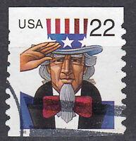 USA Briefmarke gestempelt 22c Uncle Sam aus MH Rundstempel Jahrgang 1998 / 1349