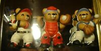 vintage Lot (3) Homco #1403 Home Interior Baseball Sports Collectible Bears  336