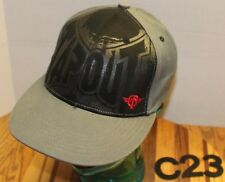 VERY NICE YOUTH TAPOUT TAP OUT GRAY/BLACK HAT EMBROIDERED VGC C23
