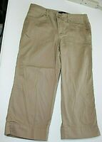 BandolinoBlu Womens Size 8 Khaki Stretch Bermuda Shorts/Capri 's Long Shorts