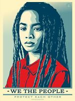 """Shepard Fairey We The People """"Protect Each Other"""" 24 x 36 Offset Print Unsigned"""