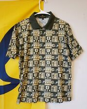 Vintage Valentino Mens Golf Short Sleeve Polo T-Shirt Size L Made In Italy