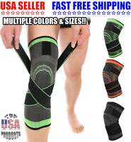 2xKnee Sleeve Compression Brace Patella Support Stabilizer Sports Gym Joint Pain